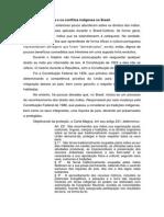 O Direito a Terra e Os Conflitos Indígenas No Brasil.