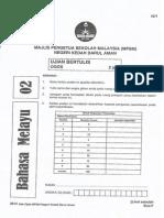 SOALAN PERCUBAAN PT3 KEDAH BAHASA MELAYU 2014