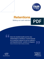 Striking Out Cash Retentions