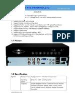 DVR5404C Specification-TTB Vision Co.,Ltd-www.ttbvision.com