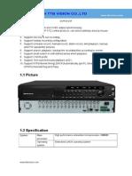 DVR5616F Specification-TTB Vision Co.,Ltd-www.ttbvision.com