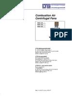 Combustion Air Centrifugal Fan VRA-e