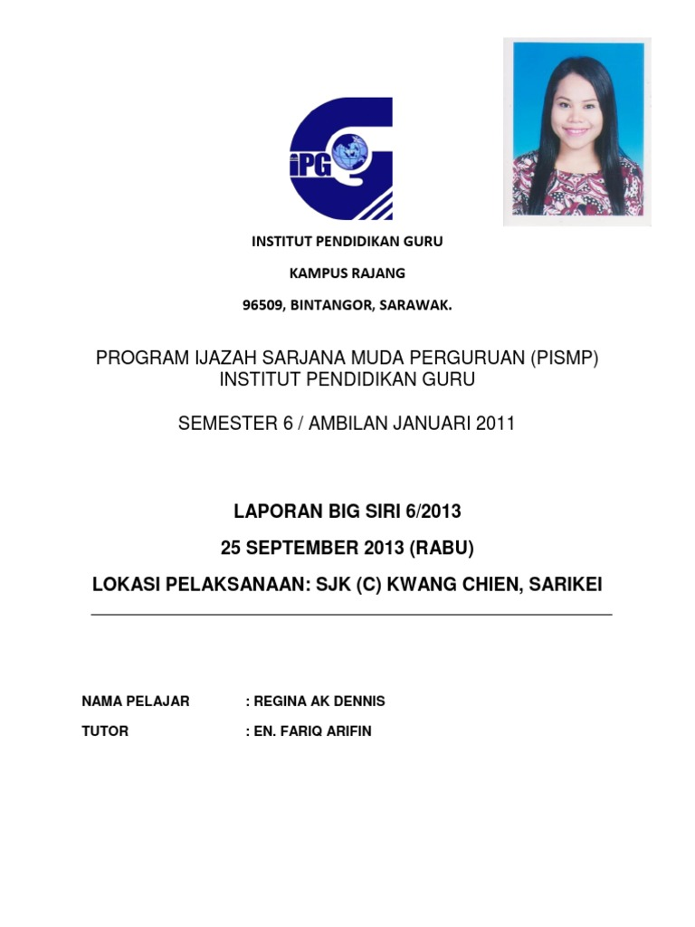 Program Ijazah Sarjana Muda Perguruan Pismp Institut Pendidikan Guru Semester 6 Ambilan Januari 2011