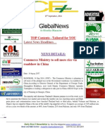 15th September,2014 Daily Gloal Rice E-Newsletter by Riceplus Magazine-IE