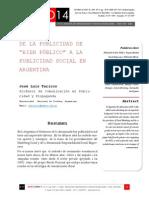 """Icono14. Nº13.  De la Publicidad de """"Bien Público """" a la Publicidad Social en Argentina"""