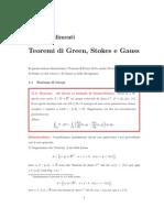 Approfondimenti Green Stokes Gauss
