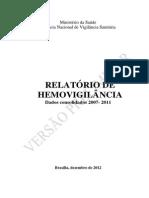 Relatório de Hemovigilância 2007 a 2011