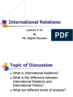 1.Introduction of International Relations