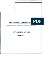 SMSTECHSOFT (I) LTD Annual Report 2011-12