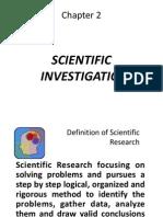 2. Scientific Investigation