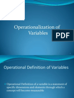 6. Operationalization of Variables