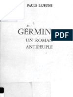 Germinal Un Roman Antipeuple - Pale Lejeune