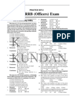 Practice Sets-2. RRB Officers Exams