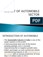 Budget of Automobile Sector