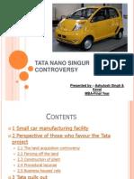 Tata Nano Singur Controversy