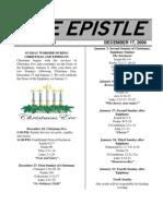 December 2009 Epistle