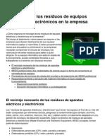 El Reciclaje de Los Residuos de Equipos Electricos y Electronicos en La Empresa 9301 Mlq4c2