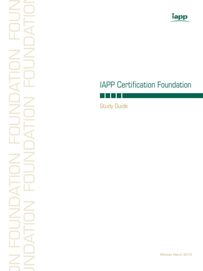 Iapp Foundation Free Study Guide Information Security Internet