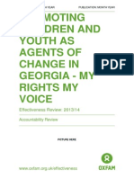 Promoting Children and Youth as Agents of Change in Georgia - My Rights My Voice