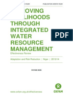 Improving Livelihoods Through Integrated Water Resource Management - Effectiveness Review