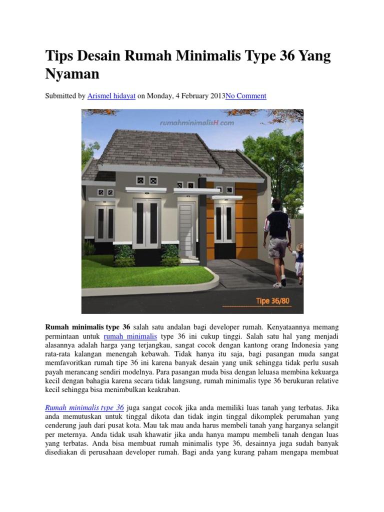 Tips Desain Rumah Minimalis Type 36 Yang Nyaman
