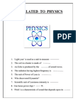 Quiz Related to Physics