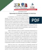 FERNANDO SOCORRO -- Epistemología de la Educación y la Pedagogía de Gabriel Ugas.docx