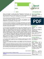 Anacofi News Septembre 2014