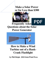 How to Make a Solar Power Generator