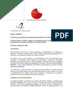 Critérios Para Admissão e Permanência de Periódicos Na Coleção SciELO