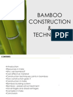 Bamboo Construction & Techniques