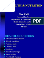 Physical Education Nutrition Ppt