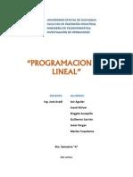 IO EquipoB Informe Programacion No Lineal