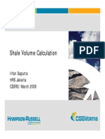 Shale Volume Calculation