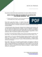 Ángel Ron y el Banco Pastor firman un acuerdo de colaboración con Unions Agrarias - UPA
