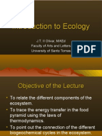 BIOLOGY - Introduction to Ecology