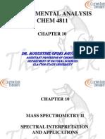 Chapter 10 Mass Spec II