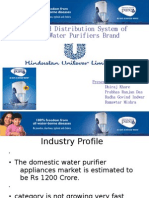 Sales and Distribution System of Pureit Water Purifiers Brand Of