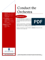 conduct the orchestra