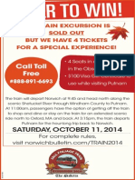 The Bulletin Phone-In Sweepstakes Train Excursion Official Rules (09.15.14)