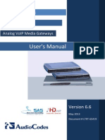 LTRT-65419 MP-11x and MP-124 SIP User's Manual Ver. 6.6