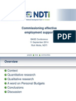 NDTi employment research - summary findings