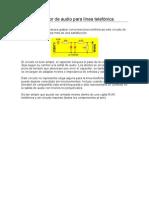 Extractor de Audio Para Línea Telefónica