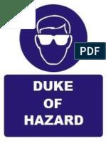 Duke of Hazard Price List