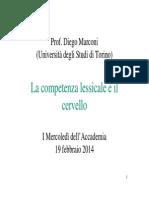 Marconi - La Competenza Lessicale e Il Cervello