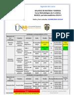 Agenda - Balance de Materia y Energia - 2014-II