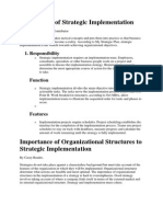 Importance of Organizational Structures to Strategic Implementation