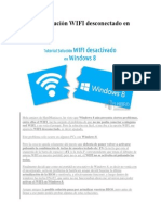 Tutorial Solución WIFI Desconectado en Windows 8