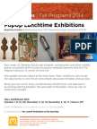 PopUp Lunchtime Exhibitions Series   The Magnes 2014