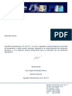 Carta de Presentación Aqualife Latinamerican